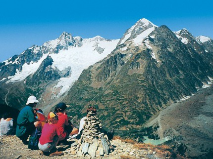 Np Gran Paradiso, údolí Aosty, Mont Blanc