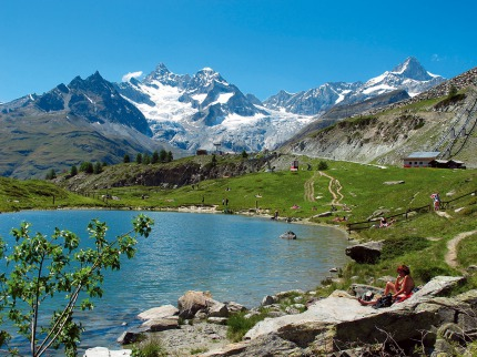 Švýcarské hory a termální lázně