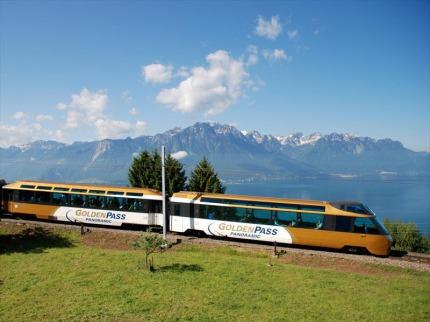 Goldenpass Express a Ženevské Jezero